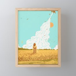 ROCKET LAUNCH Framed Mini Art Print