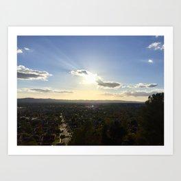 Suburban Sky Art Print