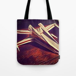 Space Fold - Warm Tones Tote Bag