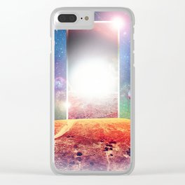 VHS Vaporwave Clear iPhone Case