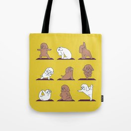 Poodle Yoga Tote Bag
