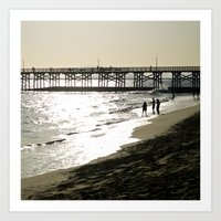 The Day's End at Seal Beach Art Print