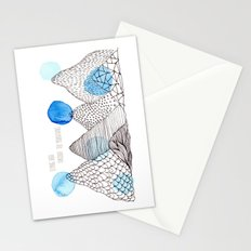 Flying high through the mountains Stationery Cards