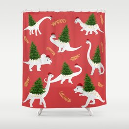 Santa's New Hire Shower Curtain