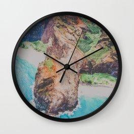 blue shores on napali Wall Clock