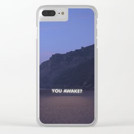Text Me Back Clear iPhone Case