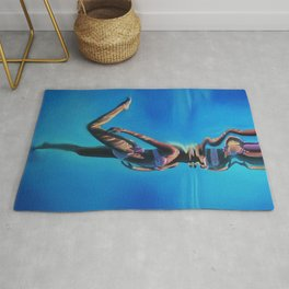 Dancing in the blue abyss Rug