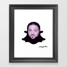 Dj Khaled - The Snapchat King Framed Art Print