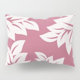 tropical pink leaves Pillow Sham