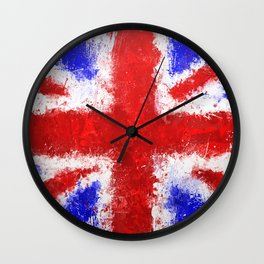 Union Jack Graffiti Wall Clock