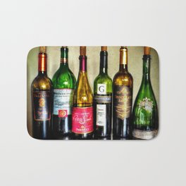 Wine Bottles Bath Mat