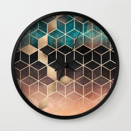 Ombre Dream Cubes Wall Clock