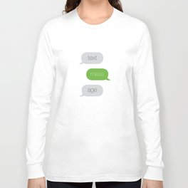 Text Message Pop Art Print Long Sleeve T-shirt