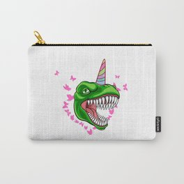 Be a Unicornasaurus Rex under Unicorns Carry-All Pouch
