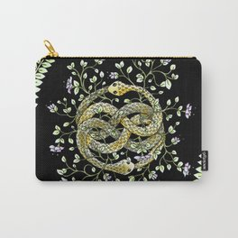 Neverending Story Inspired Auryn Garden in Black Carry-All Pouch