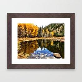 : grand fall : Framed Art Print