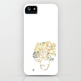 Minimal Gogh iPhone Case