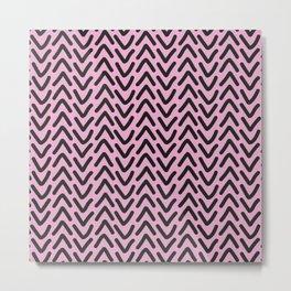 chevron pink rose Metal Print