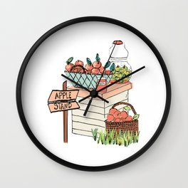 Apple Stand Wall Clock