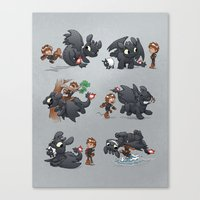 how to train your dragon Canvas Prints featuring How Not to Train Your Dragon by Dooomcat