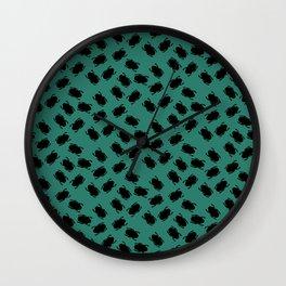 Black Beetle Design Wall Clock
