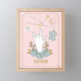 Taurus Zodiac Series Framed Mini Art Print
