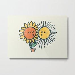 Sun Kissed sunflower Metal Print