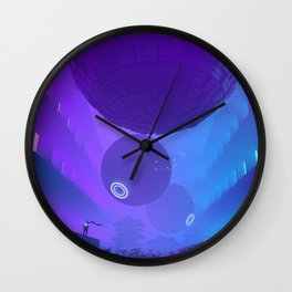 Finally Here Wall Clock