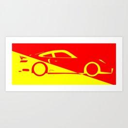 Fast Car Abstract Art Print