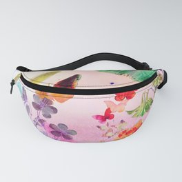 Blush Butterflies & Flowers Fanny Pack
