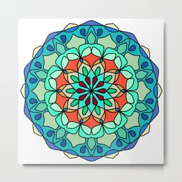 Nature Colorful mandala Metal Print