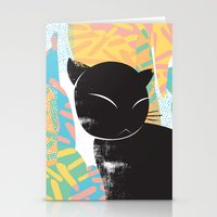 memphis Stationery Cards featuring Memphis Cat by kelsosullivan