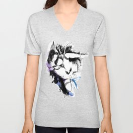 Shibari - Japanese BDSM Art Painting #10 Unisex V-Neck