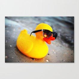 Beach Duck Canvas Print