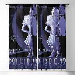 Vacation on The Lonely Wandering Planet - PSOJ-318.5-22 Blackout Curtain