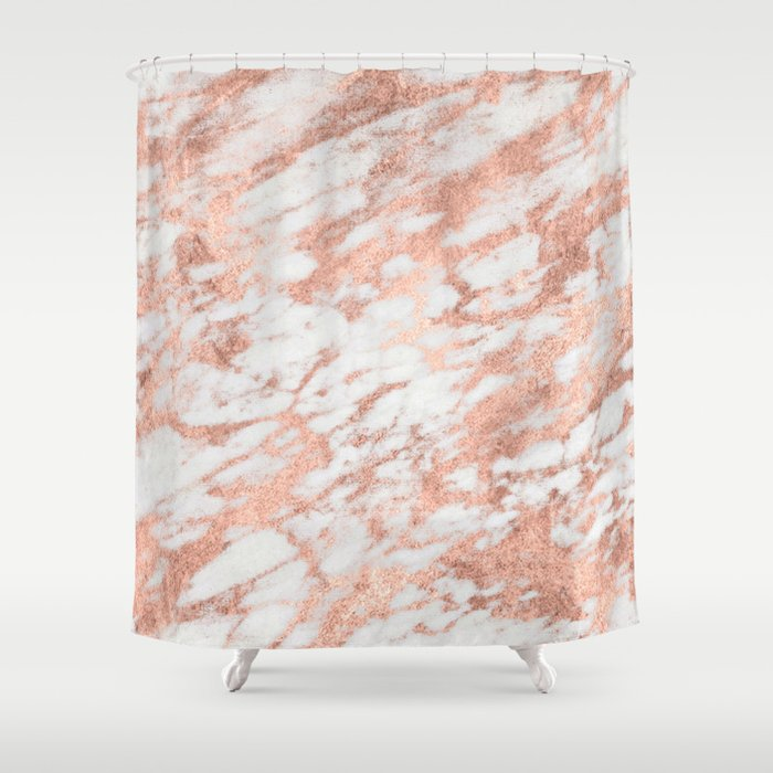 Blush Gold Quartz Shower Curtain
