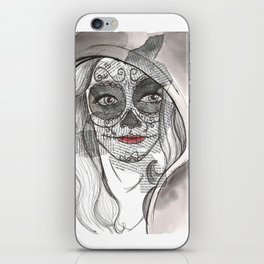 Woman bones iPhone Skin