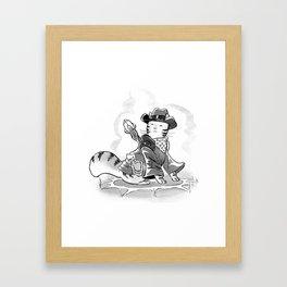 Cowboy Mage Kitty Framed Art Print