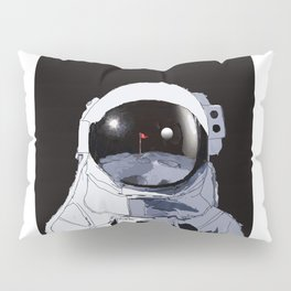 Astronaut Golf Course on the Moon Pillow Sham