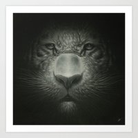 tiger Art Prints featuring Tiger by Dr. Lukas Brezak