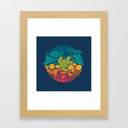 Aquatic Rainbow Framed Art Print