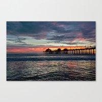 calendars Canvas Prints featuring Huntington Beach Sunset  1/26/14 by John Minar Fine Art Photography