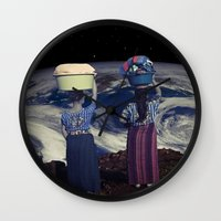 planet Wall Clocks featuring Planet by Cs025