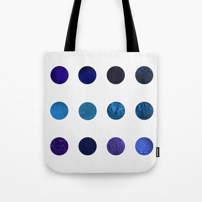 Blue Pigments Tote Bag