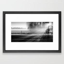 Over the Line Framed Art Print