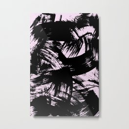 Pink Strokes Metal Print