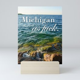 Michigan as fuck. Photograph by Mackenna Morse Mini Art Print