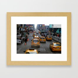 Taxi's of NYC Framed Art Print