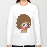 afro Long Sleeve T-shirts featuring Afro by Zenga N