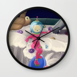Cereal is surfed Wall Clock